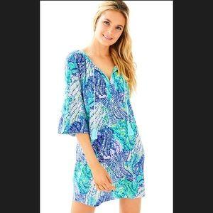 Lilly Pulitzer Del Lago Tunic Dress Blue Purple